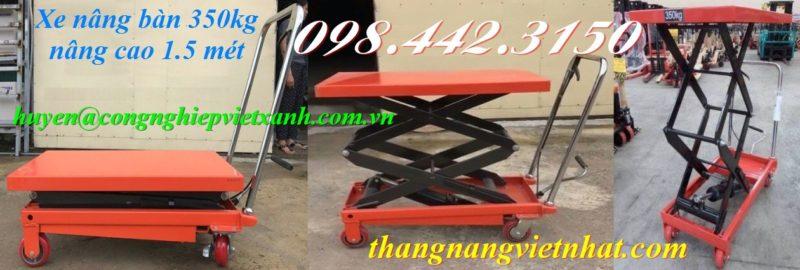Xe nâng bàn 350kg nâng cao 1.5m
