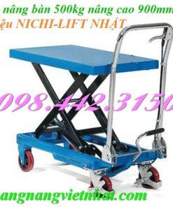 Xe nâng bàn 500kg Nichilift - Nhật