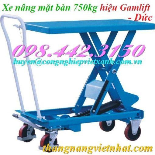 Xe nâng mặt bàn 750kg Gamlift