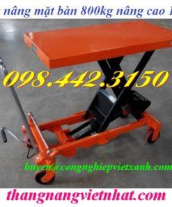 Xe nâng mặt bàn 800kg WP800