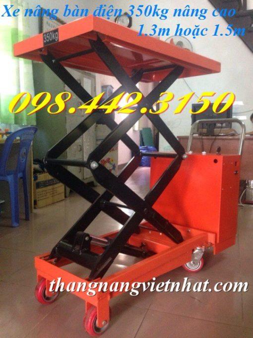 Xe nâng mặt bàn điện 350kg