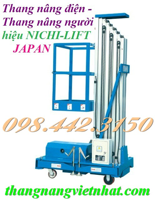 Thang nâng điện 125kg nâng cao 8 mét NICHI-LIFT - Japan