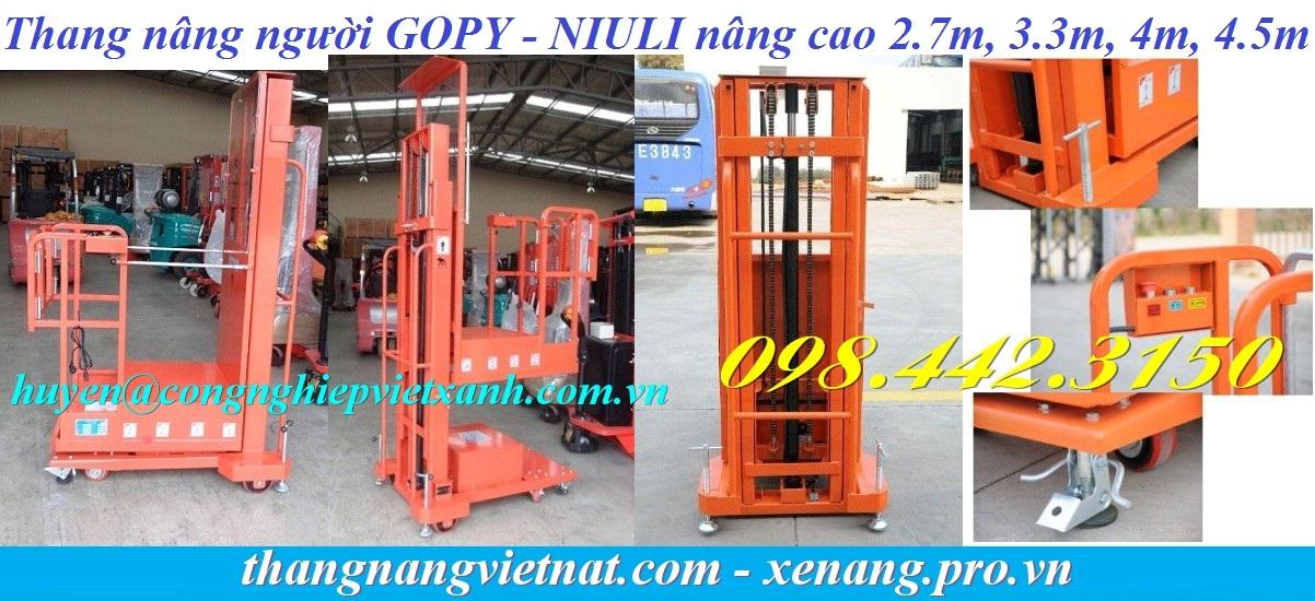 Thang nâng người GOPY Niuli nâng cao 2.7m, 3.3m, 4m, 4.5m