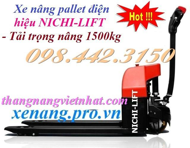 Xe nâng pallet chạy điện 1.5 tấn NICHI-LIFT JAPAN