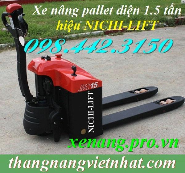 Xe nâng pallet điện 1.5 tấn NICHI-LIFT JAPAN