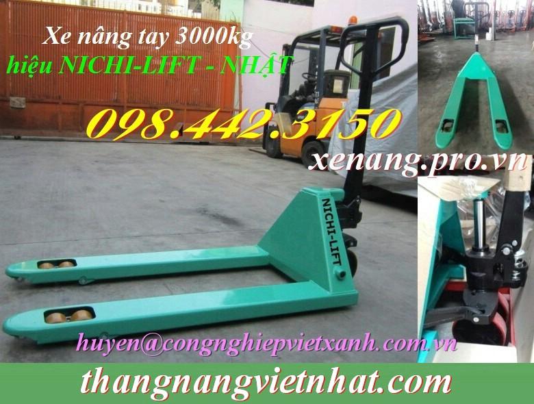 Xe nâng tay 3 tấn Nichi-lift
