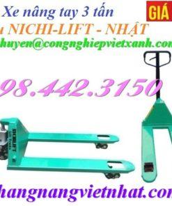 Xe nâng tay 3000kg Nichi-lift