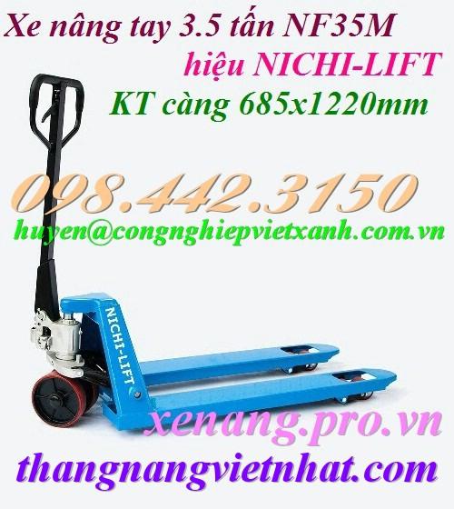 Xe nâng tay 3500kg Nichi-lift