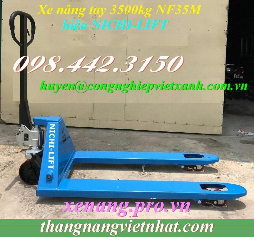 Xe nâng tay 3.5 tấn Nichi-lift