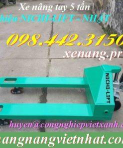 Xe nâng tay 5 tấn Nichi-lift