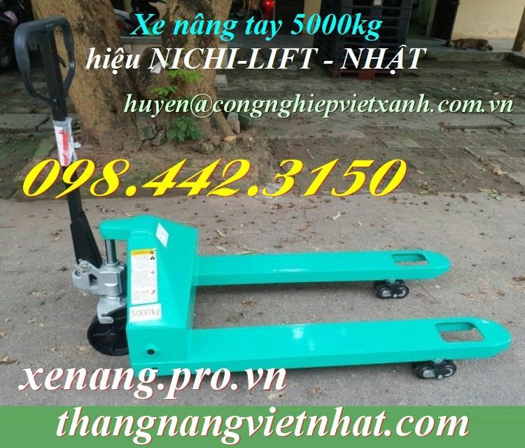 Xe nâng tay 5000kg Nichi-lift