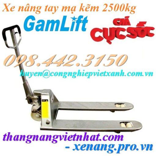 Xe nâng tay mạ kẽm 2500kg GAMLIFT