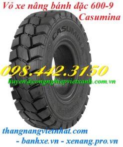 Vỏ xe nâng Casumina 600-9 bánh đặc