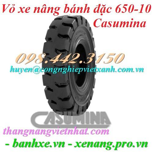 Vỏ xe nâng Casumina 650-10 bánh đặc
