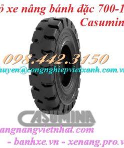 Vỏ xe nâng Casumina 700-12 bánh đặc