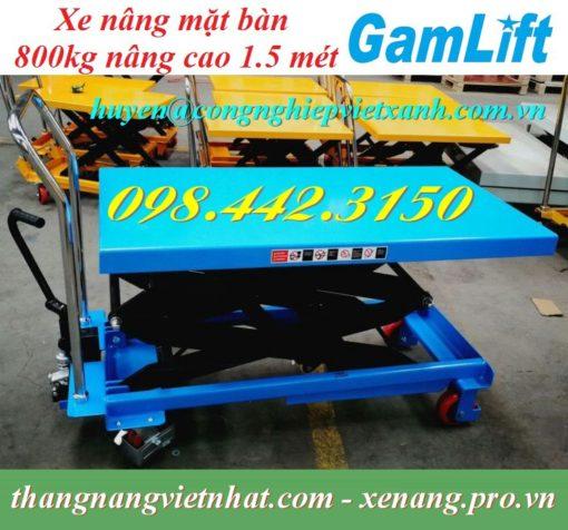 Xe nâng bàn 800kg cao 1500mm Gamlift - Germany