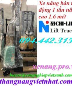 Xe nâng bán tự động 1 tấn cao 1.6m NICHI-LIFT