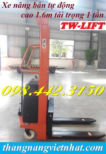 Xe nâng bán tự động 1 tấn cao 1.6m TW-lifter