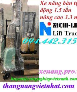 Xe nâng bán tự động 1.5 tấn cao 3.3m NICHI-LIFT