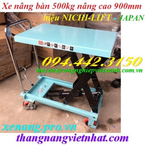 Xe nâng mặt bàn 500kg NICHI-LIFT