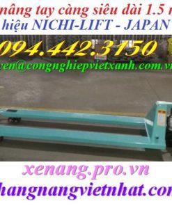 Xe nâng tay càng dài 1500mm NICHI-LIFT