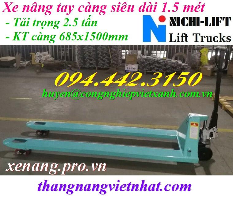 Xe nâng tay càng siêu dài 1.5 mét NICHI-LIFT