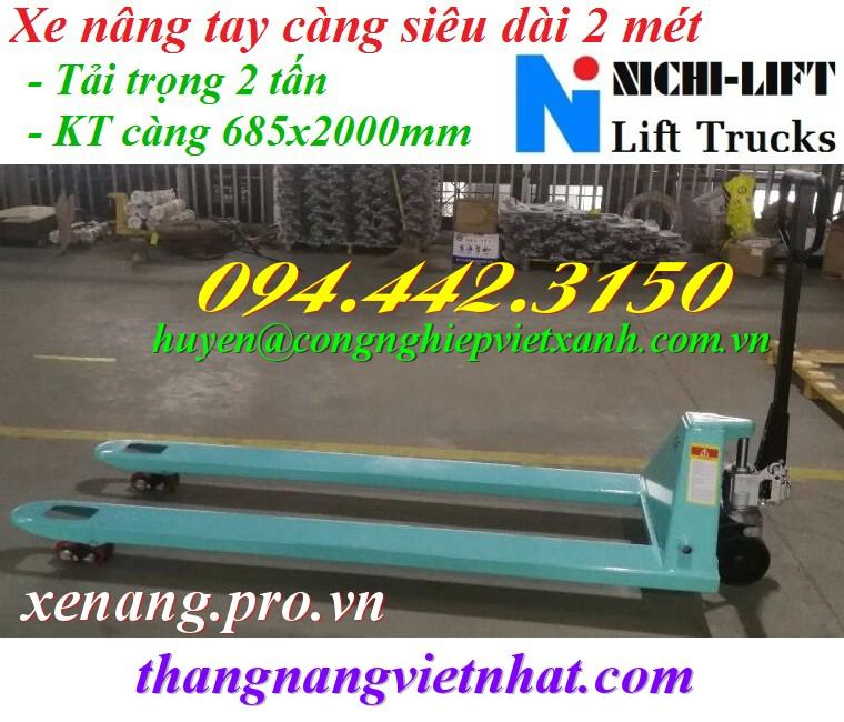 Xe nâng tay càng siêu dài 2 mét NICHI-LIFT