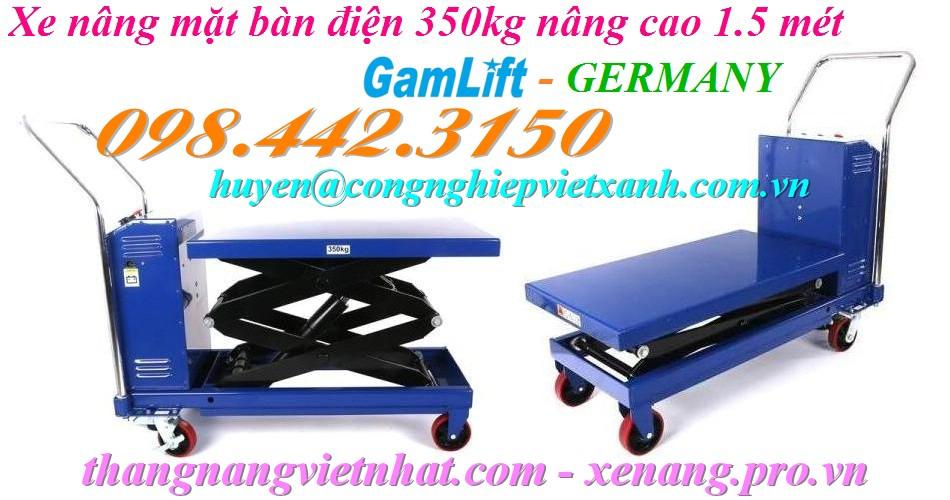 Xe nâng bàn điện 350kg nâng cao 1.5 mét ETAD35 GAMLIFT