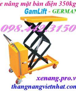 Xe nâng mặt bàn điện 350kg nâng cao 1.5 mét ETAD35 GAMLIFT