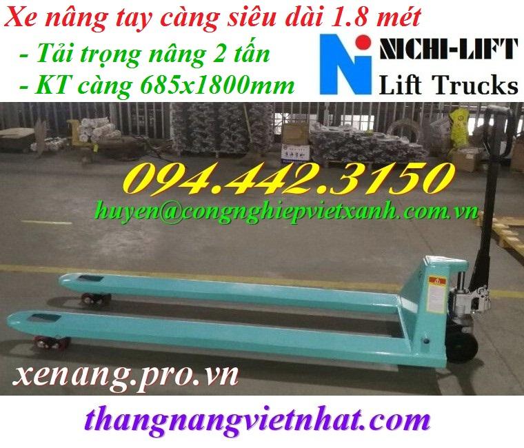Xe nâng tay càng siêu dài 1.8 mét NICHI-LIFT