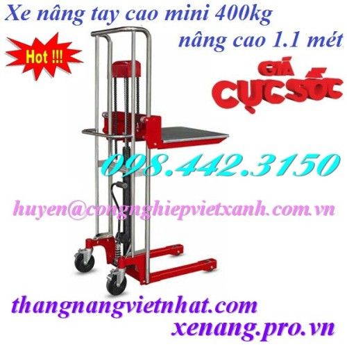 Xe nâng tay cao mini 400kg nâng cao 1100mm GAMLIFT