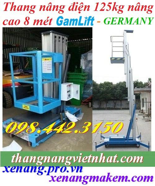 Thang nâng điện 125kg cao 8m Gamlift - Germany - thang đơn