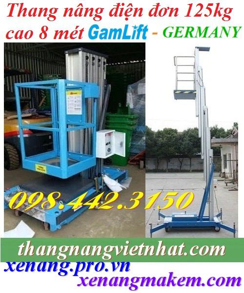 Thang nâng điện 125kg cao 8m Gamlift - Germany