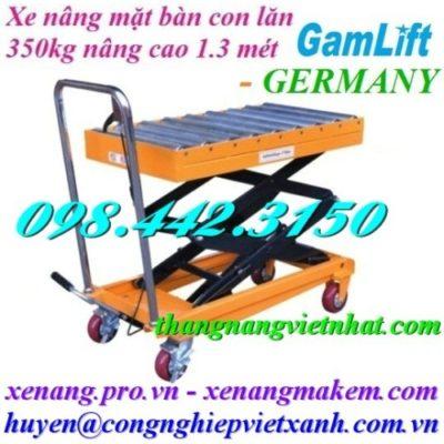 Xe nâng mặt bàn con lăn 350kg Gamlift