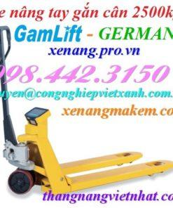 Xe nâng tay gắn cân 2500kg Gamlift EV25