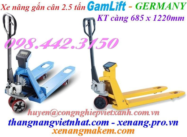 Xe nâng tay gắn cân 2.5 tấn Gamlift EV25