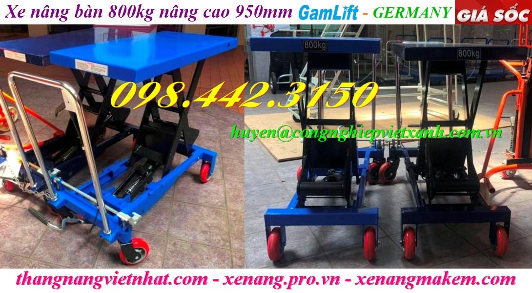 Xe nâng mặt bàn 800kg nâng cao 950mm TA80