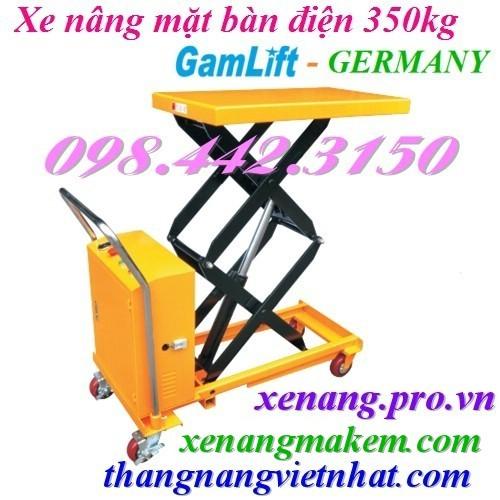 Xe nâng mặt bàn điện 350kg Gamlift ETAD35