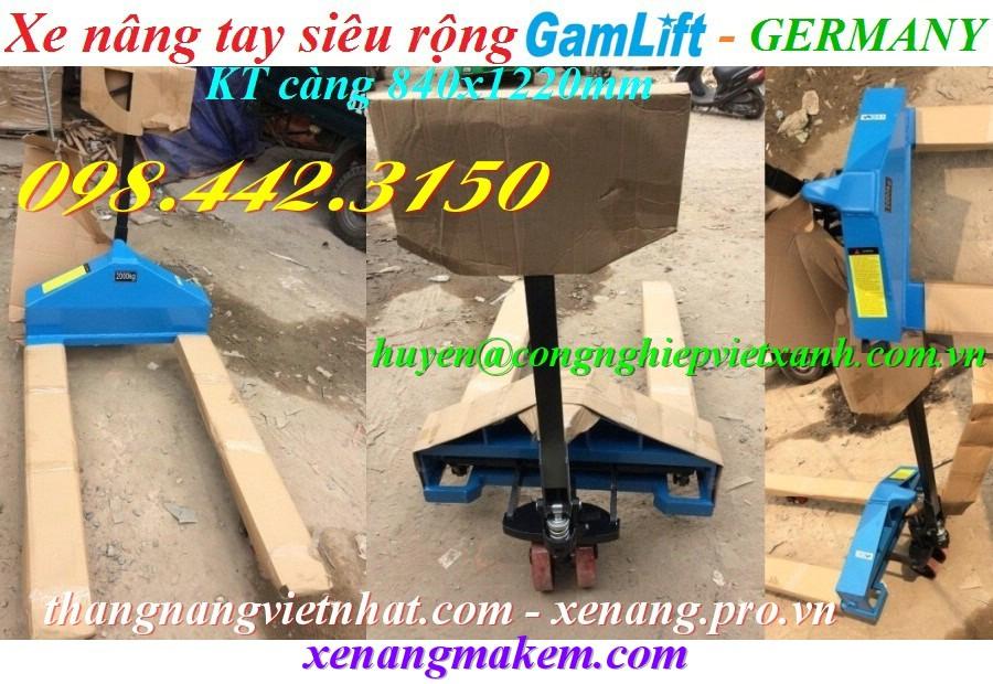 Xe nâng tay càng siêu rộng 840x1220mm Gamlift