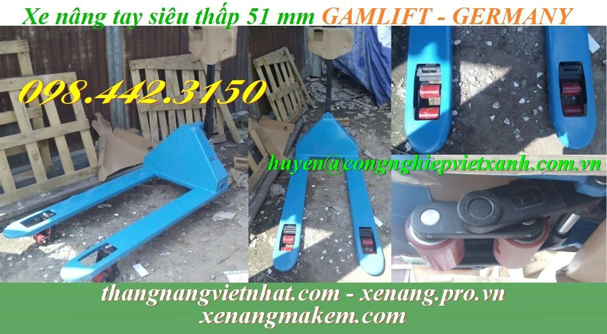 Xe nâng tay siêu thấp 51mm ACL51M Gamlift
