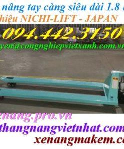 Xe nâng tay càng dài 1800mm Nichilift