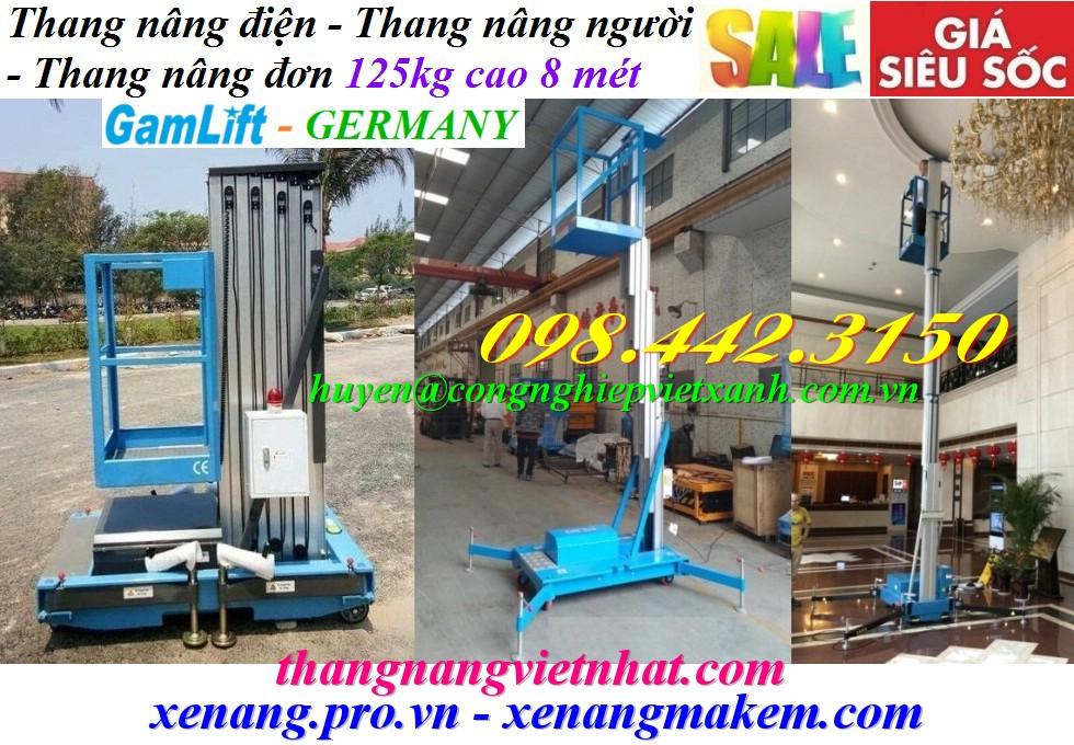 Thang nâng điện 8 mét 125kg Gamlift - Germany