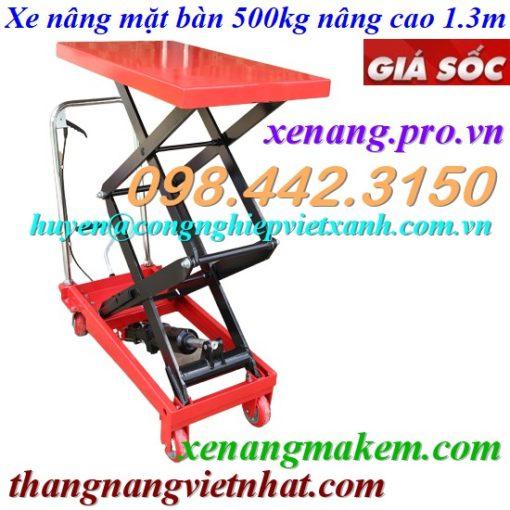 Xe nâng mặt bàn 500kg nâng cap 1300mm WP50/1.3M