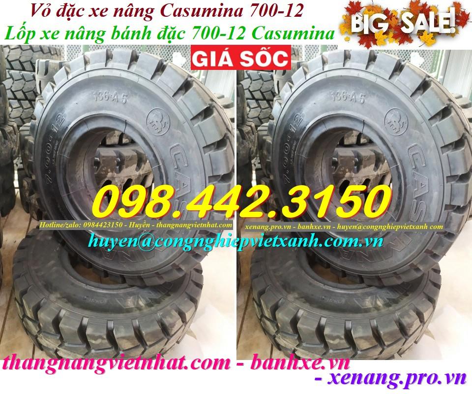 Lốp đặc Casumina 700-12