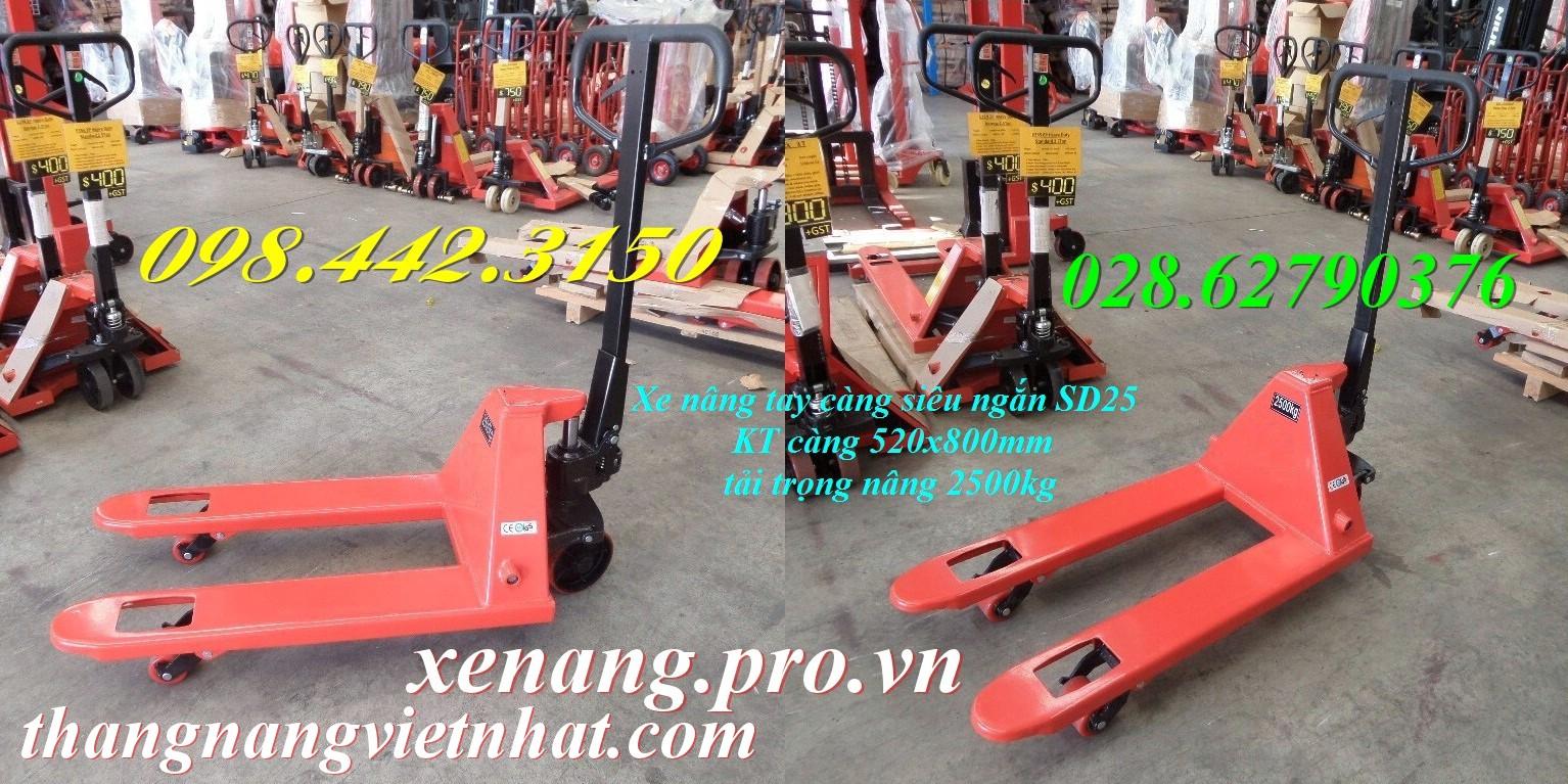 Xe nâng tay càng ngắn 520x800mm