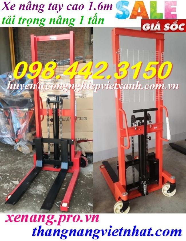 Xe nâng tay cao 1.6 mét - tải trọng 1 tấn TW-lifter - Đài Loan giá rẻ call 0984423150 – Huyền